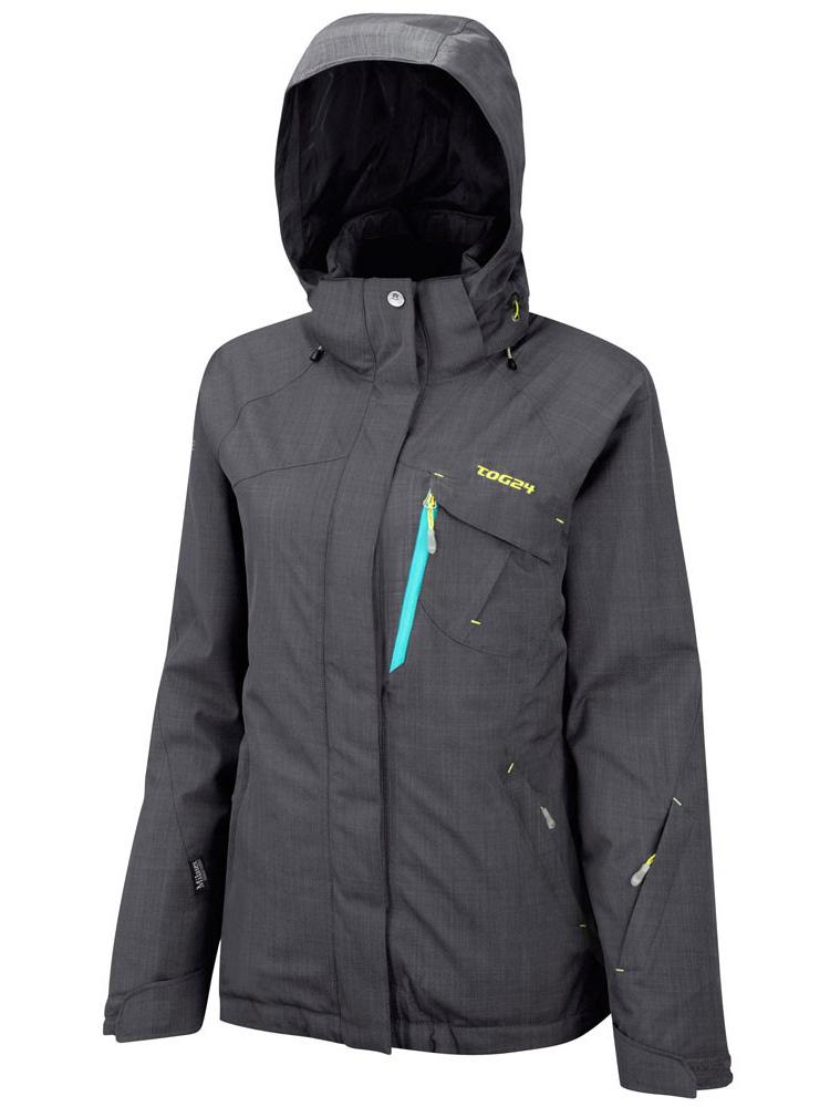 New Tog24 Womens Sawtooth Jacket Black Ski Snowboard