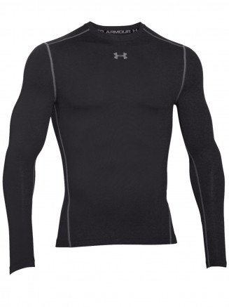 Mens Coldgear Armour Compression Crew Black
