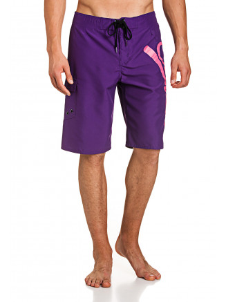 Mens Plain Boardshort Purple