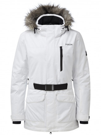 Womens Aria Waterproof Insulated Ski Jacket White