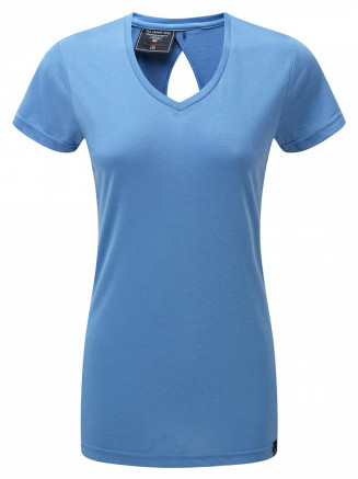 Womens Daisy Dri-release Wool T-shirt Turquoise