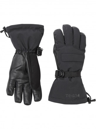 Mens Womens Frickley Ski Gloves Black