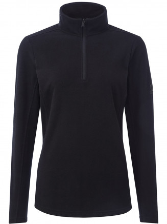 Womens Hecky Fleece Zip Neck Black
