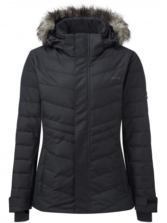 Womens Kirby Waterproof Down Filled Ski Jacket Black
