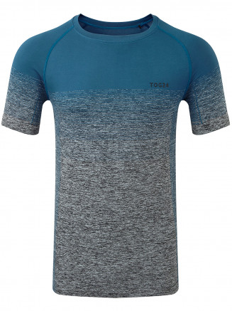 Mens Murphy Seamless Performance Tshirt Blue