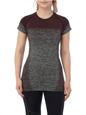 Womens Nada Seamless Performance Tshirt Red
