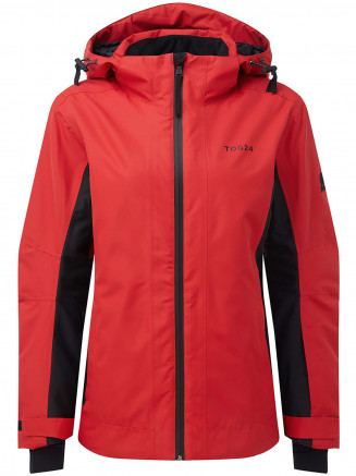 Womens Piper Waterproof Insulated Ski Jacket Red