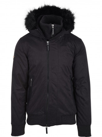 Mens Microfibre Wind Bomber Black