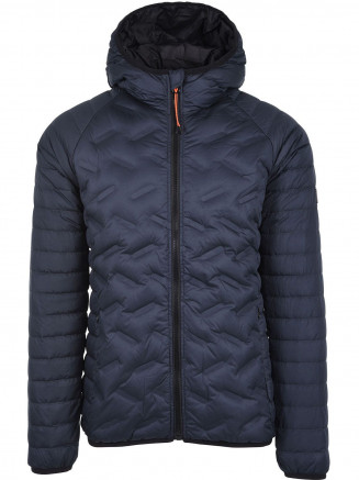 Mens Down Radar Mix Quilt Jacket Blue