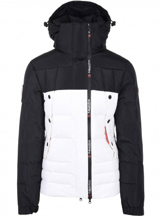 Mens Super Canadian Ski Down Puffer Black