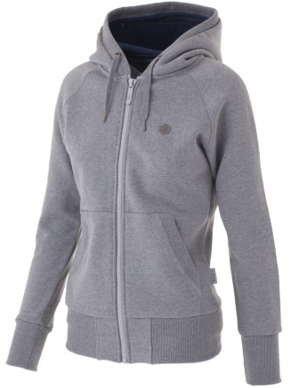 Womens Arren Deluxe Zip Hoody Grey