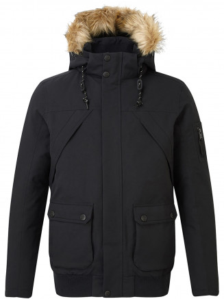 Mens Aviation Milatex Down Jacket Black