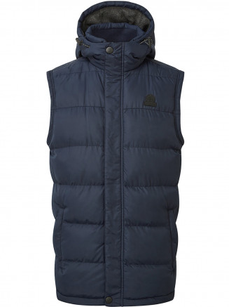 Mens Worth Tcz Thermal Gilet Blue