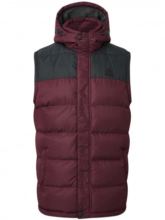 Mens Worth Tcz Thermal Gilet Red