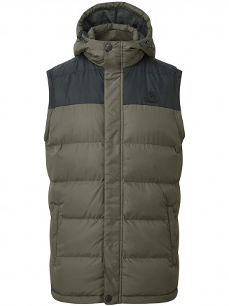 Mens Worth Tcz Thermal Gilet Green