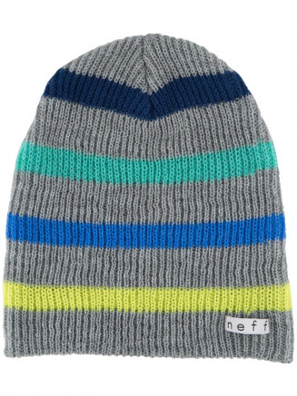 Mens Womens Daily Stripe Beanie Grey
