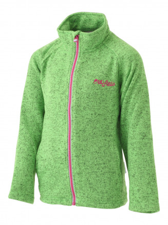 Girls Electra Marl Full Zip Fleece Green
