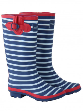 Womens Splishsplash Wellington Boot Blue