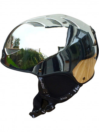 Adults Auto Chrome Ski Helmet Silver