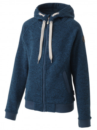 Womens Inez Zip Thru Fleece Blue