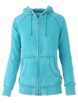 Womens Juicy Deluxe Zip Hoody Turquoise