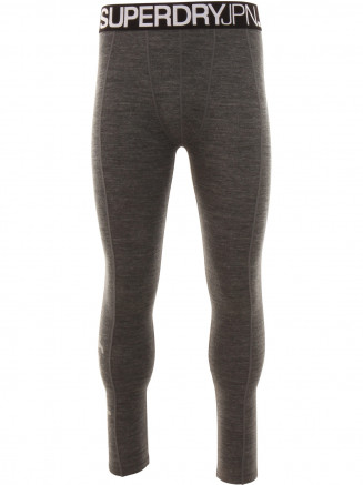 Mens Merino Base Layer Legging Grey
