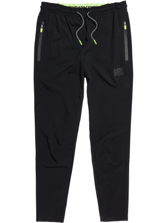 Mens Training Woven Stretch Jogger Black