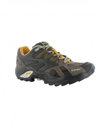 Mens Hi-tec V-lite Flash Force Low I Shoe Green