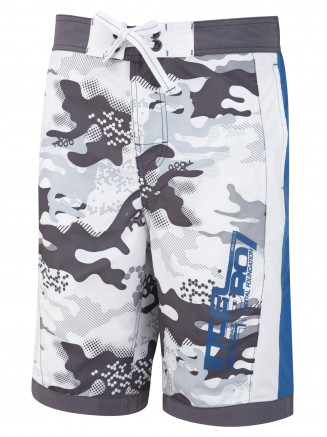 Mens Veron Camo Boardshort White
