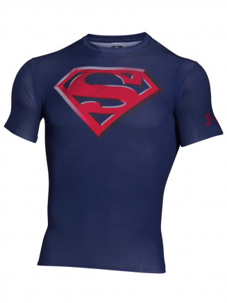 Mens Alter Ego Transform Yourself Compression Shirt Blue