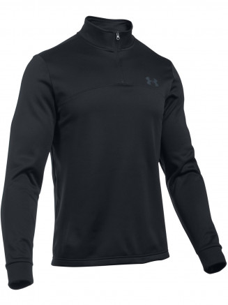 Mens Armour Fleece 1/4 Zip Black
