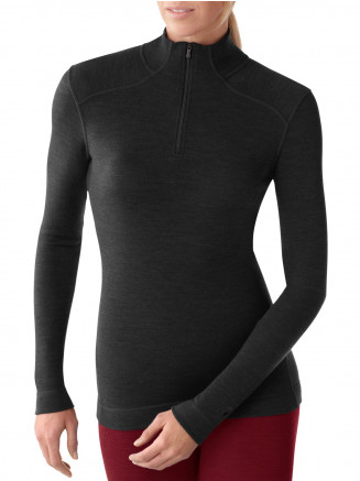 Womens Base Layer NTS Mid 250 Zip Top Black