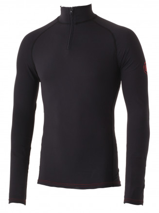 Mens Zammo Zip Neck Baselayer Black