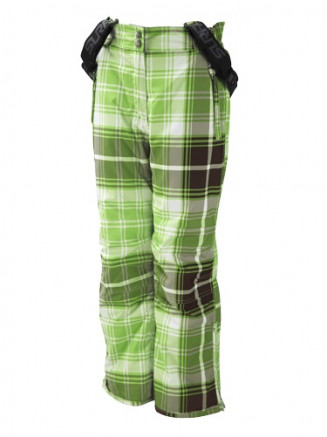 Citrus Green Legit Highlander Print Girls Ski Pants