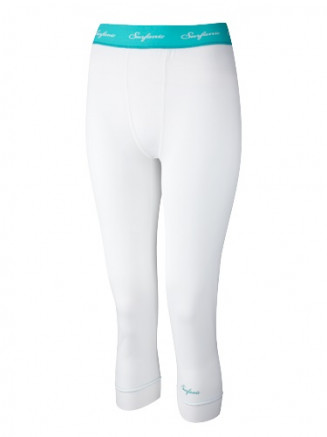 Girls Long John 3/4 Plain Baselayer White