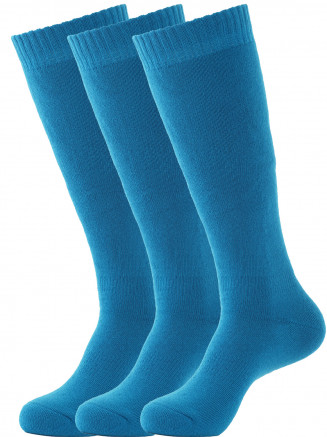 Mens Pro Tech 3 Pack Ski Sock Blue