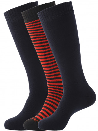 Mens Pro Tech 3 Pack Patterned Ski Sock Black