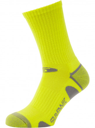 Mens Pro Tech 3 Pack Run Ankle Sock Green