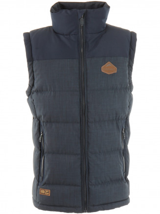 Mens Trapper Gilet Blue