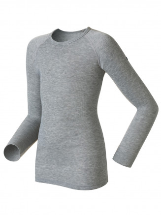 Kids Base Layer Warm Long Sleeve Crew Neck Grey