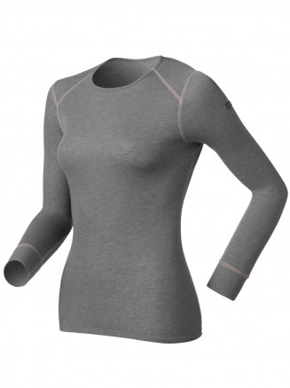 Womens Base Layer Warm Long Sleeve Crew Neck Grey