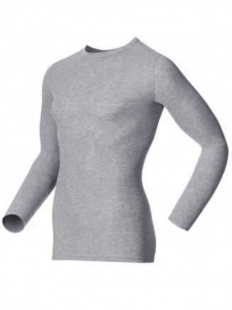 Mens Base Layer Warm Long Sleeve Crew Neck Grey