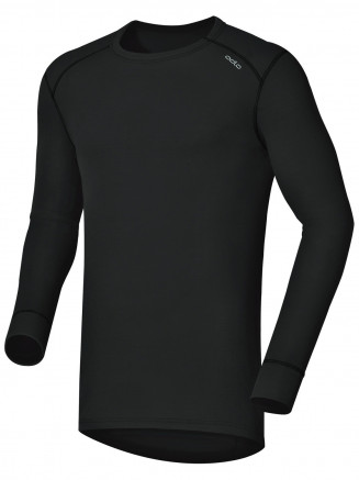 Mens Base Layer Warm Long Sleeve Crew Neck Black