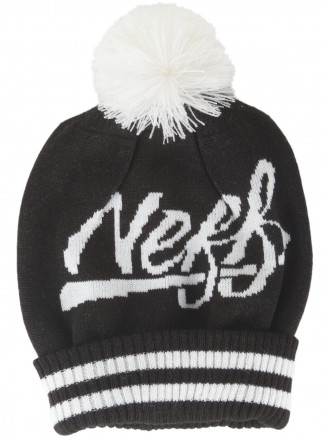 Mens Womens Varsity Beanie Black