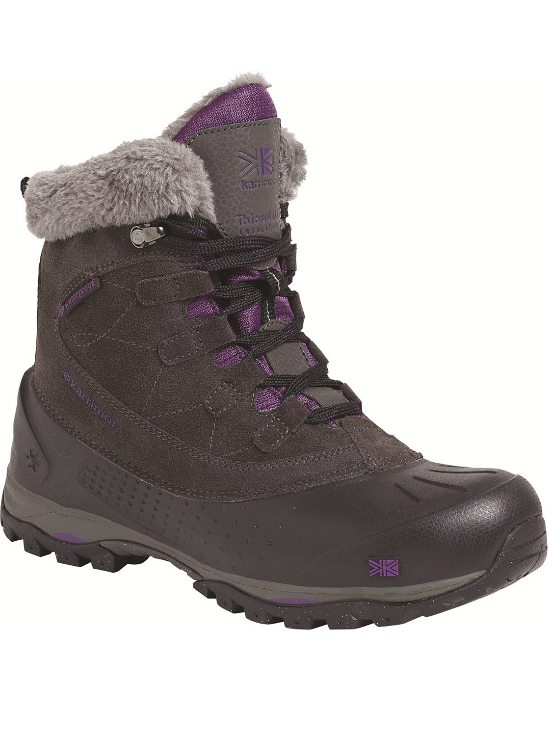 womens karrimor snowfur 2 boot black snow boots outdoor