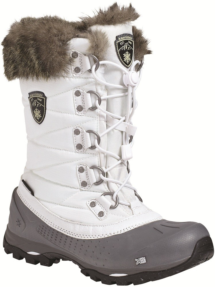 Ladies White Snow Boots - Boot Hto