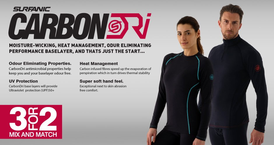 3 for 2 - CarbonDri Baselayers