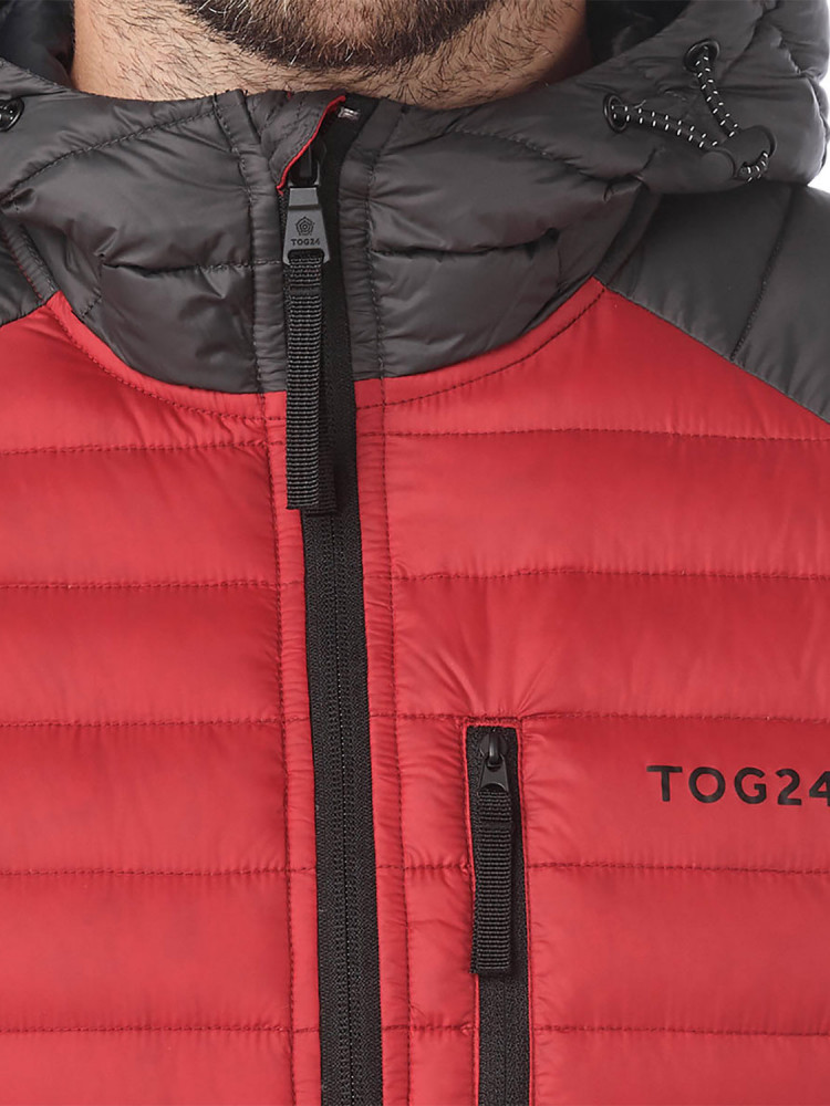 f75e17461 NEW Tog24 Mens Beck Hooded Down Jacket Down Jacket Red - Surfanic Shop