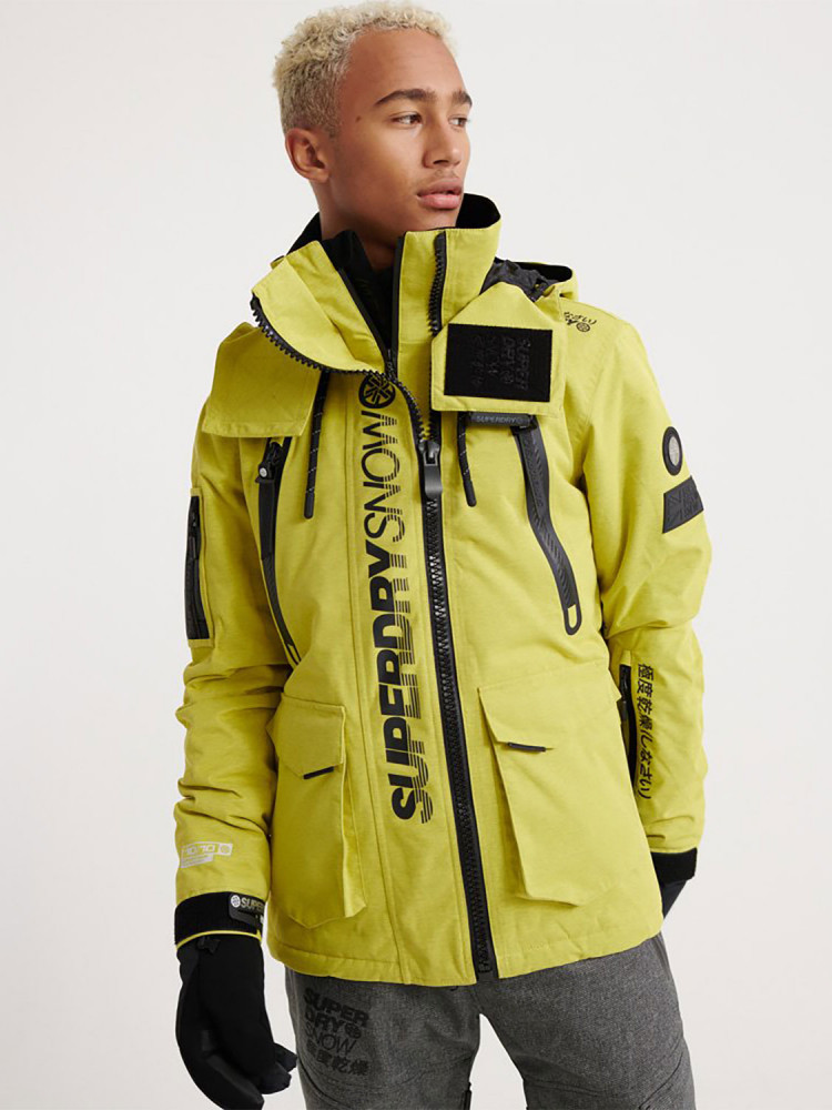 New Superdry Ultimate Snow Rescue Jacket Jacket Yellow Yellow Surfanic Shop