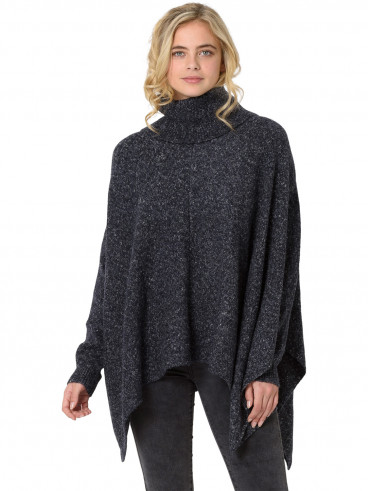 Womens Kyra Knitted Jumper Cape Grey